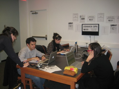 Crisis Mapping volunteers at SIPA