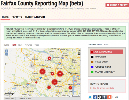 Fairfax County Reporting Map (beta)